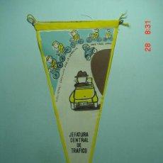 Banderines de colección: 6218 BANDERIN JEFATURA TRAFICO CICLISMO AÑOS 1950/60 - MAS DE ESTE TIPO EN MI TIENDA TC. Lote 9867234