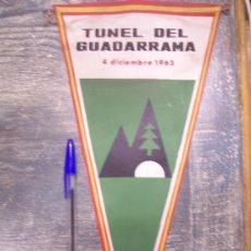 Banderines de colección: TUNEL DEL GUADARRAMA 1963. Lote 13017216