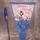 Banderines de colección: LIBRERIA ARBESU OVIEDO FELICES PASCUAS 1964. Lote 13017277