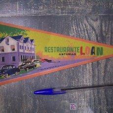 Banderines de colección: RESTAURANTE LOAN ASTURIAS. Lote 13017453