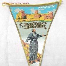 Banderines de colección: BANDERÍN NAVARRA CASTILLO DE JAVIER AÑOS 60. Lote 1400587