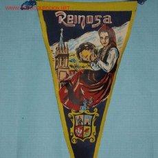 Galhardetes de coleção: BANDERIN DE REINOSA, EN TELA, AÑOS 60 SANTANDER, CANTABRIA. Lote 23645892