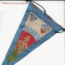 Banderines de colección: BANDERIN SABADELL AUTO MOTORISTA FIESTA DE SANT CRISTOBAL. Lote 9103545