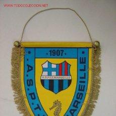 Banderines de colección: BANDERIN - A.S.P.T.T. MARSEILLE - AÑOS 60-70. Lote 24490497