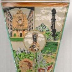 Banderines de colección: BANDERIN MONTSERRAT. 38,5 X 18 CM. PLÁSTICO. Lote 12634508
