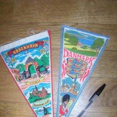 Banderines de colección: LOTE DE 2 BANDERINES DINAMARCA DANMARK. Lote 13017997