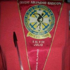 Banderines de colección: III CONGRESO NAL. DE LA SDAD. ESPAÑOLA DE REHABILITACION OVIEDO 1960, OBSEQUIO DE ABUNDIO GASCON. Lote 13018450