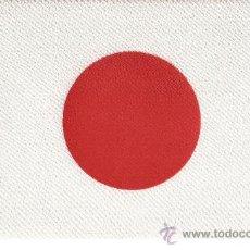 Banderines de colección: CINCO BANDERITAS SOBREMESA JAPON DE 24X15 ESTAMPADA SOBRE RASO A DOBLE CARA. Lote 58107477