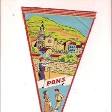 Banderines de colección: ANTIGUO BANDERIN PONS BALLET DE DEU. Lote 24164963