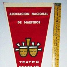 Banderines de colección: BN0238.- PERU. BANDERÍN TELA. TEATRO ESCOLAR DEL PERU. ASOCIACION NACIONAL DE MAESTROS. Lote 26573114