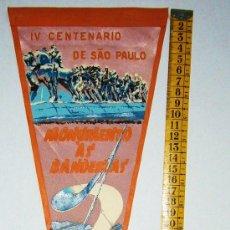 Banderines de colección: BN0242.- BANDERÍN BRASIL TELA. IV CENTENARI DE SAO PAULO. Lote 26573122