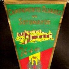 Banderines de colección: C I R. 6 - CAMPAMENTO ALVAREZ DE SOTOMAYOR, 24 - 4 - 66, BANDERÍN DE TELA DE SEDA, ORIGINAL DE TELA. Lote 19157304