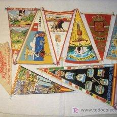 Banderines de colección: LOTE BANDERINES TELA PLASTIFICADA AÑOS 60. Lote 27582371