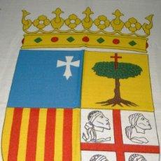 Banderines de colección: 4 ESCUDOS DE ARAGÓN DE 55 CMS. IDEAL PARA BANDERA DE 150X100. Lote 101250119