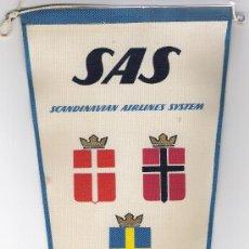 Banderines de colección: BANDERIN DE SAS LINEAS AEREAS DE ESCANDINAVIA. Lote 86202488