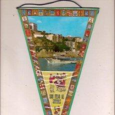 Fanions de collection: ANTIGUO BANDERIN DE SANT FELIU DE GUIXOLS VISTA. Lote 25757617