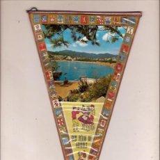 Fanions de collection: ANTIGUO BANDERIN SANT FELIU DE GUIXOL VISTA PLAYA COSTA BRAVA. Lote 27160472