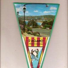 Fanions de collection: ANTIGUO BANDERIN DE S'AGARO COSTA BRAVA. Lote 26874900