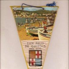 Fanions de collection: ANTIGUO BANDERIN DE SANT FELIU DE GUIXOLS COSTA BRAVA. Lote 26874903