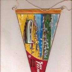 Fanions de collection: ANTIGUO BANDERIN DE TELA SANT FELIU DE GUIXOLS COSTA BRAVA. Lote 23383982