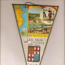 Fanions de collection: BANDERIN DE SAN FELIU DE GUIXOLS COSTA BRAVA. Lote 24766781