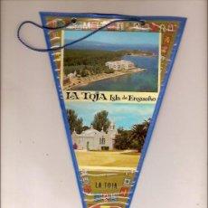 Banderines de colección: BANDERIN LA TOJA ISLA DE ENSUEÑO GALICIA. Lote 24767132