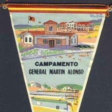 Banderines de colección: BANDERIN DE TREMP: CAMPAMENTO MILITAR GENERAL MARTIN ALONSO. Lote 25042156