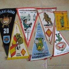 Banderines de colección: 7 BANDERINES DEL EGERCITO,. Lote 25047819