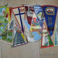 Banderines de colección: 14 BANDERINES DIFERENTES AÑOS 60. Lote 25047912