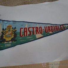 Banderines de colección: BANDERIN CASTRO URDIALES SANTANDER AÑO 1958- 35 CMS. Lote 26258308