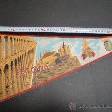 Banderines de colección: BANDERIN SEGOVIA ACUEDUCTO GRAN TAMAÑO 50 CMS LARGO. Lote 26258540
