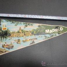 Banderines de colección: BANDERIN MADRID LAGO DEL RETIRO GRAN TAMAÑO 26 CMS. Lote 26258949