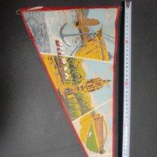 Banderines de colección: BANDERIN BILBAO ANTIGUO ,PINTADO,GRAN FORMATO 50 CMS LARGO. Lote 26259001
