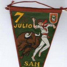 Banderines de colección: BANDERI DE PAMPLONA - 7 DE JULIO SAN FERMIN - . Lote 38466503