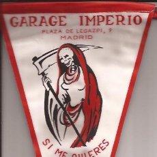 Banderines de colección: BANDERIN-GARAJE IMPERIO-MADRID-AÑOS 50-MORBOSO. Lote 28089051