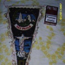 Banderines de colección: BANDERIN DE SAO PAULO RIO - DE TELA - . Lote 28400038