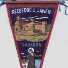 Banderines de colección: BANDERIN DE JAVIER (NAVARRA). Lote 28470323