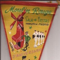 Banderines de colección: BANDERIN-MOLINO ROJO-MADRID-1957-CABARET EN LAVAPIES-. Lote 28689089