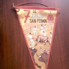 Banderines de colección: BANDERIN 7 DE JULIO SAN FERMIN-PAMPLONA-14X26. Lote 28738520