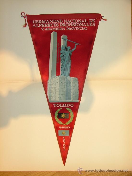 BANDERÍN. ALFERECES PROVISIONALES DE TOLEDO (Coleccionismo - Banderines)