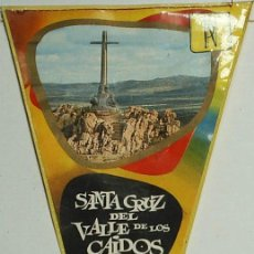Banderines de colección: BANDERIN -SANTA CRUZ DEL VALLE DE LOS CAIDOS - ORIGINAL ANTIGUO. Lote 30966528