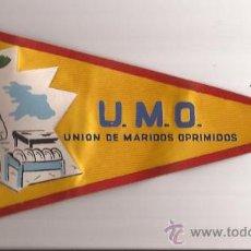 Banderines de colección: BANDERIN-U.M.O-UNION DE MARIDOS OPRIMIDOS-AÑOS 50-. Lote 31268616
