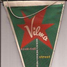 Banderines de colección: BANDERIN-COMERCIAL MEDIAS VILMA-AÑOS 50-PUBLICIDAD-. Lote 31335975