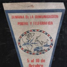 Banderines de colección: ANTIGUO BANDERIN DE LA SEMANA DE LA COMUNICACION POSTAL Y TELEGRAFICA DE PANAMA. 1987. Lote 32367438
