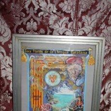 Banderines de colección: K2-004. BANDERÍN DELS JOCS FLORALS DE LA LLENGUA CATALANA A PARÍS 1959 FIRMADO ENRIQUEZ. Lote 32636642