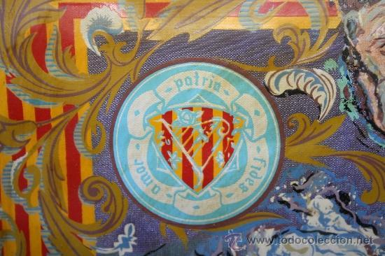 Banderines de colección: K2-004. BANDERÍN DELS JOCS FLORALS DE LA LLENGUA CATALANA A PARÍS 1959 FIRMADO ENRIQUEZ - Foto 5 - 32636642