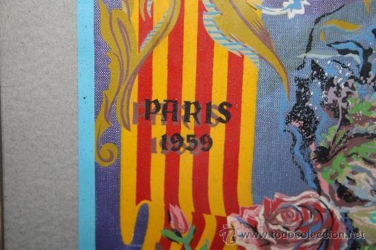 Banderines de colección: K2-004. BANDERÍN DELS JOCS FLORALS DE LA LLENGUA CATALANA A PARÍS 1959 FIRMADO ENRIQUEZ - Foto 6 - 32636642