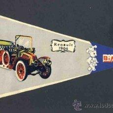 Banderines de colección: BANDERIN DE BIMBO: COCHE ANTIGUO RENAULT 1904. Lote 33388135