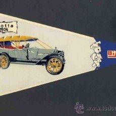 Banderines de colección: BANDERIN DE BIMBO: COCHE ANTIGUO ISOTTA 1906. Lote 33388142