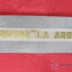 Banderines de colección: BANDERIN SOBRE TELA IMPRESA BANDERA ARGENTINA RECUERDO DEL CRUCERO LA ARGENTINA ARA AÑOS 40. Lote 33525171